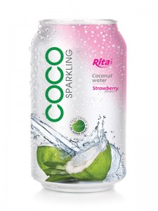 330ml Strawberry flavor Sparkling Coconut Water