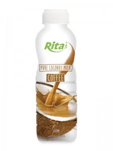 500ml PP bottle Pure Coconut Milk with Coffee