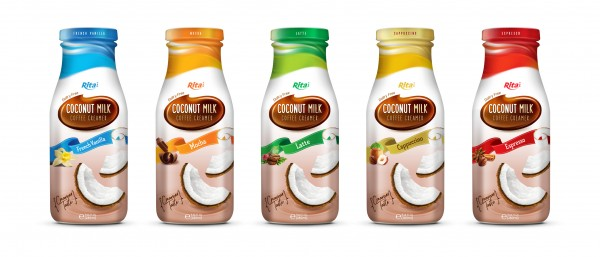 Design Coconut milk Coffee Creamer