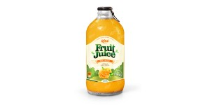 Orange fruit juice 340ml glass bottle