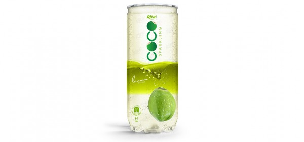 Sparking coconut water with lemon flavor 250ml Pet can  1